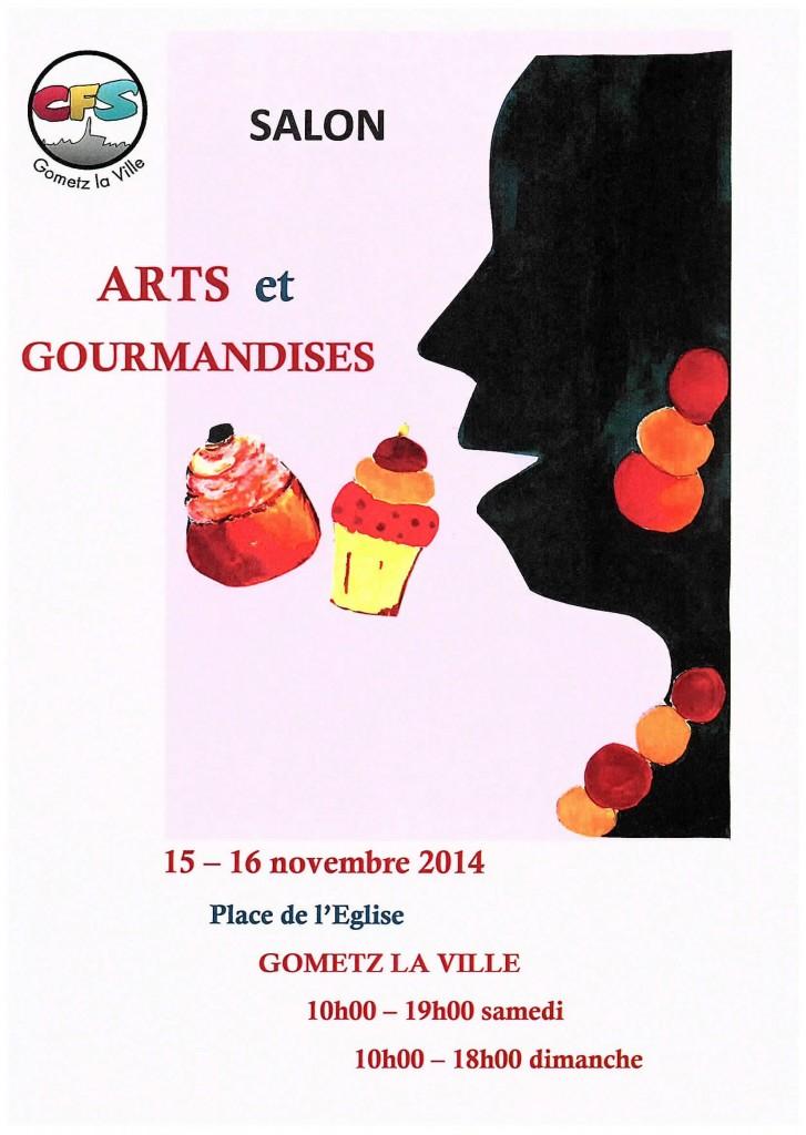 affiche ARTS et GOURMANDISES 2014 - 1